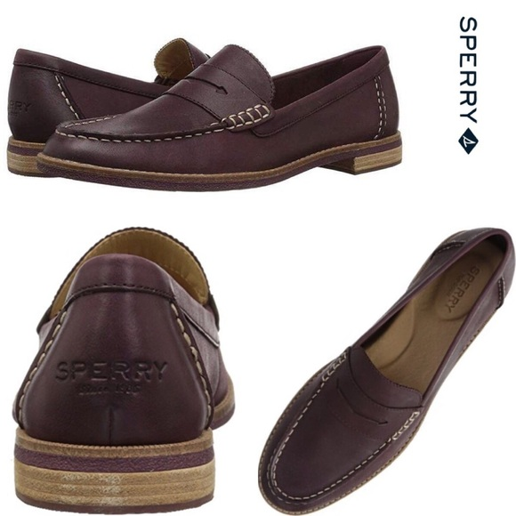 024318017f9 NEW WITH BOX - SPERRY Wine Seaport Penny Loafer
